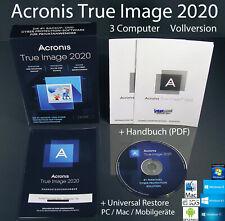 Acronis True Image 2020 Vollversion 3 PC/Mac Box, CD + Universal Restore OVP NEU