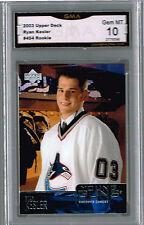 2003 Ryan Kesler Upper Deck Young Guns Rookie Gem Mint 10 #454
