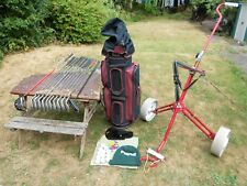 GOLF CLUBS SET of 12  L/HAND MENS  BAG TROLLEY & ALL YOU NEED TO START PLAYING .