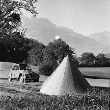 SUISSE c. 1958 -Enfant Toile de Tente Citroën 2 CV Aigle - Négatif 6 x 6 - Sui 6