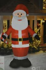 Holiday Time Airblown Inflatable Santa 9ft Tall Lighted IndoorOutdoor