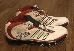 DWIGHT HOWARD Game Used Signed 2006 Adidas a3 SS Power II SZ 18 USA Shoes PSA/DN