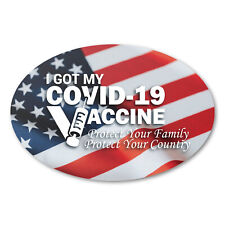 3 X 2 Oval I Got My Vaccine Stickers Usa 1500 Labels Total