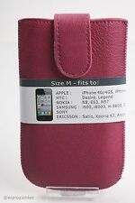 Leder Tasche Pink Apple iPhone 3 3G 3GS 4 4G 4S HTC Desire Legend Nokia N8 E6...