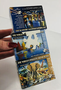 TDC Games World's Smallest Jigsaw Puzzle 3 Puzzles African Oasis Time Square