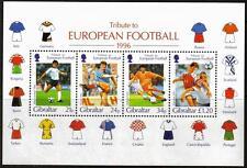 Gibraltar Mnh 1996 ms775 Eurocopa Minipliego