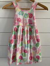 98c2f1eca426f0 VTG Lilly Pulitzer Girls White Label sea shell dress sleeveless Rare Sz 5