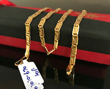 18 Kt Real Solid Yellow Gold Curb Cuban Classy Necklace Men'S Chain 10.670 Grams