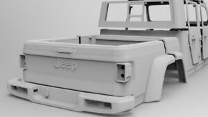 RC cars body JEEP axial truck 1/9 scale Gladiator FDM 3d printed