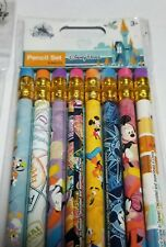 Disney Parks Authentic Mickey Minnie Donald Rides Passport Pencil Set of 8 NEW