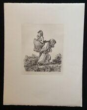 A. Paul Weber, Das Beutestück, Lithographie, 1978, handsigniert