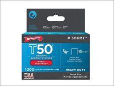 Arrow - T50M 506m Monel Staples 10mm (3/8in) Box 1000