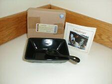 Longaberger Pottery Small Tasting Bowl Dish & Spoon Ebony Black Special Order
