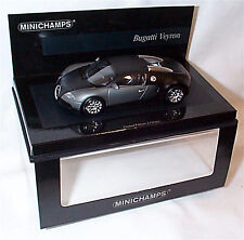 Bugatti veyron Matt Black New in Box ltd edition 1-43 scale