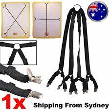 Elastic Crisscross Bed Mattress Sheet Straps Clips Grippers Fasteners Suspender