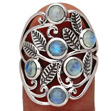 Silver Ring Jewelry s.7 Br4036 190Y Rainbow Moonstone - India 925 Sterling
