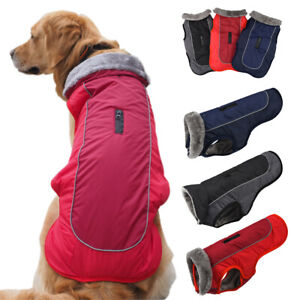Pet Dog Outdoors Winter Fluffy Fur Fleece Thermal Coat Jacket Small Medium Large