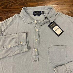 Polo Ralph Lauren Men's Featherweight Mesh Long Sleeve Shirt XL Blue