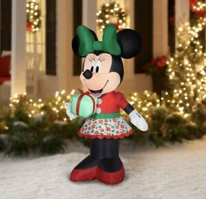 🎄New 5' ft MINNIE MOUSE Inflatable Yard Christmas Decoration Disney Air Blown
