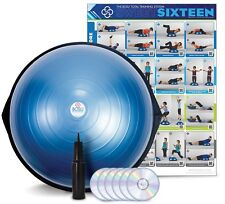 BOSU BALL Home Balance Trainer Exercise Ball with 6 DVDs - 65 cm