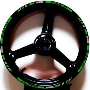 LIME GREEN GP STYLE CUSTOM RIM STRIPES WHEEL DECALS TAPE STICKERS Kawasaki Ninja