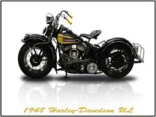 1948 Harley Davidson Motorcycle New Metal Sign: Fully Restored