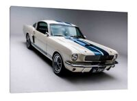 Ford Mustang GT350 Fastback 30x20 Inch Canvas - Framed Picture Print Art