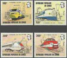 Timbres Trains Congo 656/9 ** lot 17821