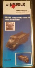 1/35 U-Models GMC AFKWX 353 6X6 COE cargo truck steel cab full resin kit