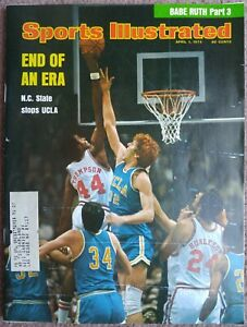 VINTAGE SPORTS ILLUSTRATED APRIL 1, 1974 END OF AN ERA N.C STATE STOPS UCLA