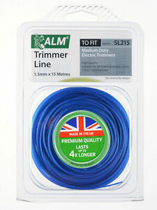 Replacement 1.5mm x 15M Blue Trimmer Strimmer Spool Line Wire Flymo Bosch SL215