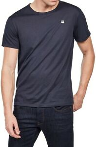 G-STAR RAW Mens D09963 Base R T S/S Short Sleeve T Shirt Mazarine Blue > Small