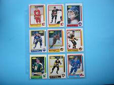 LOT 14 1986/87 O-PEE-CHEE BLANK BACK CARDS JOEL OTTO GARY SUTER ROOKIE MINT+ OPC