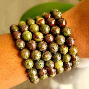 6MM 8MM Dragon Bloodstone Bracelet Healing Reiki Men Women Yoga Bracelet Jewelry