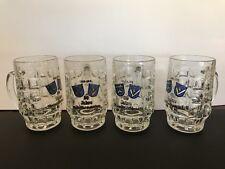 50 Jahre Wiesbaden - Schierstein German Beer Mug Set Of 4. 1926-1976
