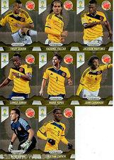 2014 Brasil FIFA World Cup Soccer Prism Card Base Team Set Colombia (8)