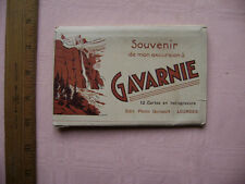 1940's Twelve postcard souvenir book - Gavarnie, France