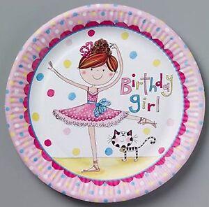 Ballerina Party Plates 8pk 23cm - Rachel Ellen Ballerina Party Supplies