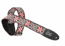 Levy's Guitar Strap JIMI HENDRIX Red Flowers Psychedelic Woven Hippie Levys