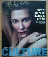 CULTURE magazine,Cate Blanchett NEW