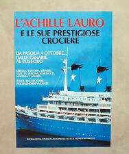 E012 - Advertising Pubblicità - 1987 - L'ACHILLE LAURO E LE SUE CROCIERE