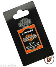 HARLEY DAVIDSON GENUINE OIL CAN MOTORCYCLE VEST PIN ** NEW ON CARD **