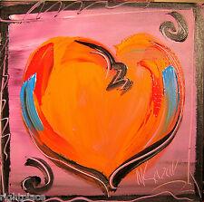 VALENTINE HEART   LISTED BY MARK KAZAV  Modern  Original Abstract Pai345y