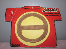 NOS DEADSTOCK 1971 SUEDES ROUND YELLOW LEATHER TARGET PATCH ViNTAGE BOHO ROCKER