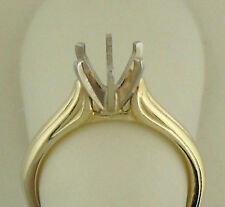 1CT SOLITAIRE RING SETTING 14K YELLOW GOLD 3MM WIDE RING SIZE 6 NEW