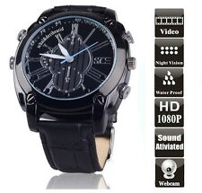 HD 1080P Infrarot Armbanduhr Spy Cam Kamera Uhr Spion IR Wasserdicht DVR 16G W11