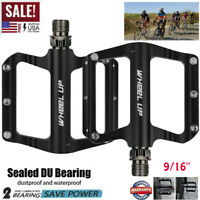 9/16'' Mountain Road Bike Bicycle Pedals MTB Aluminum Wide Flat Platform Bearing
