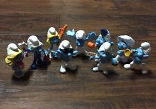 "Cute Lot of (9) 2013 ""McDonald's"" 3"" Peyo ""Smurfs"" CollectIble Figures GUC"