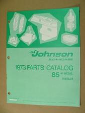 1973 OMC JOHNSON 85 HP MODELS 85ESL73 OUTBOARD MOTOR ENGINE PARTS CATALOG 386138