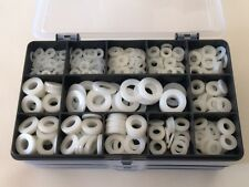 Nylon Washers Metric M4 M5 M6 M8 M10 Assorted Washers Box of 430 pcs (5 sizes)